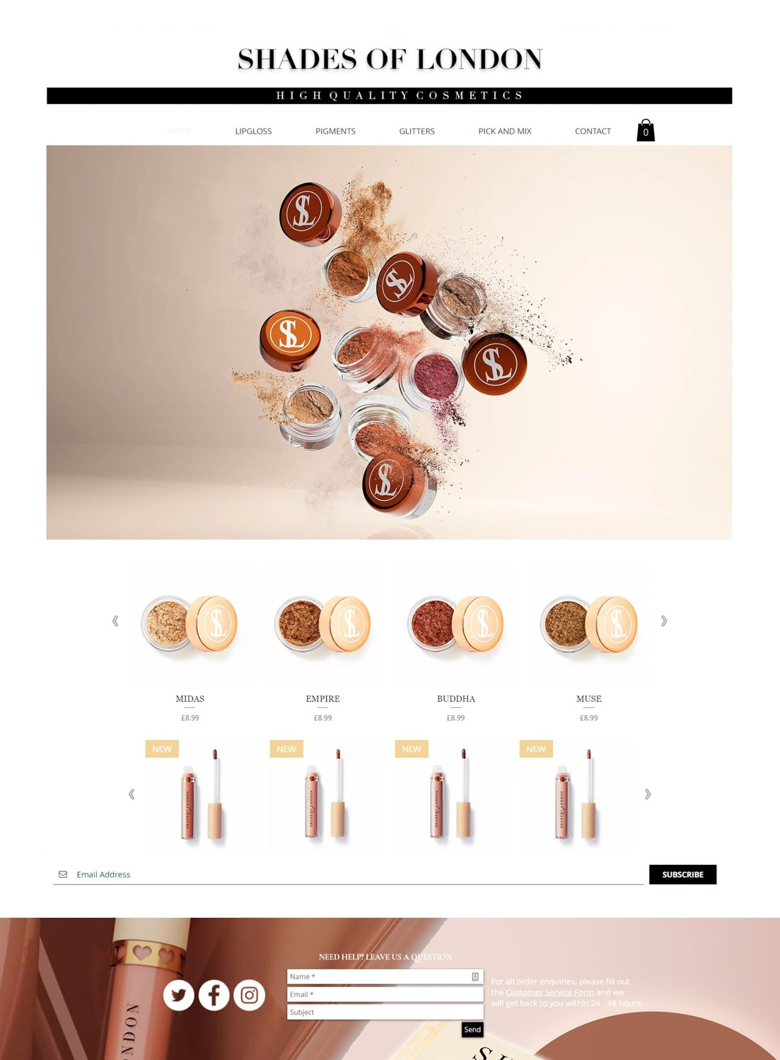Dust exposition images cosmetic product