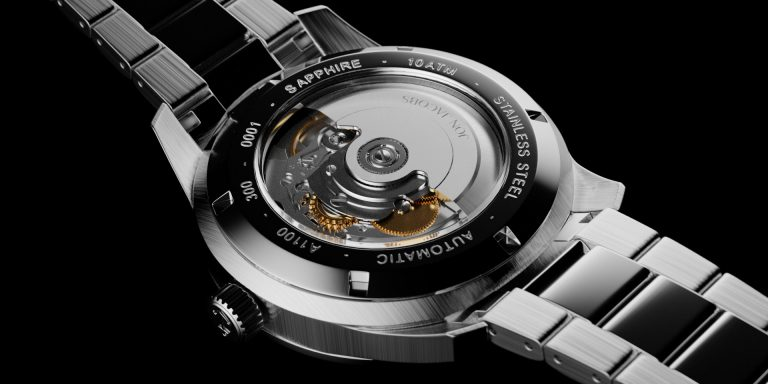 Luxury watch photography back render image